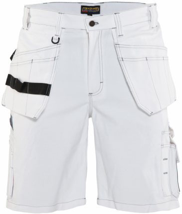 Blaklader 1536 Painters Shorts 100% Cotton (White)